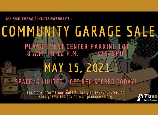 Plano Community Garage Sale May 15