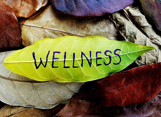 Wellness on a leaf